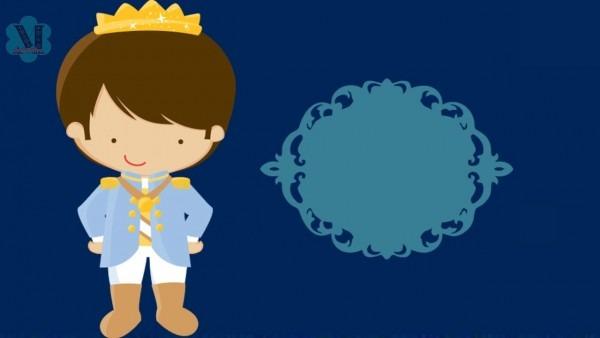 Convite animado realeza azul grátis