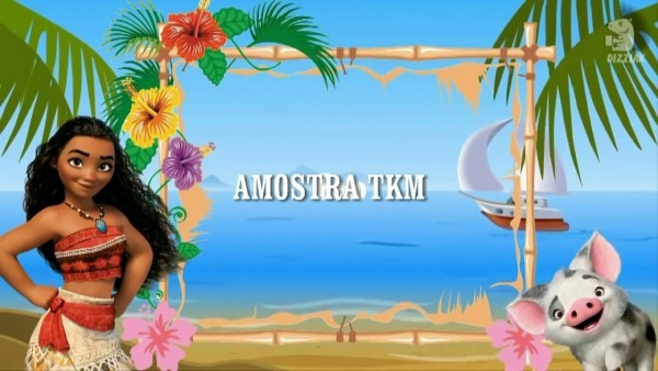 Convite moana tkm convites animados