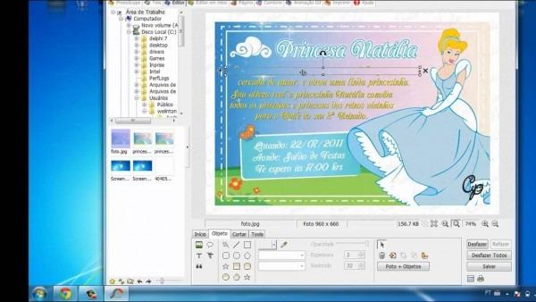 Editando Um Cartao, Convite Ja Feito No Photoscape