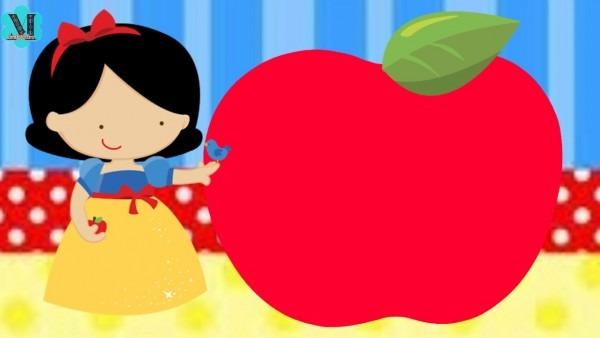 Convite Animado Branca De Neve Cute Grátis