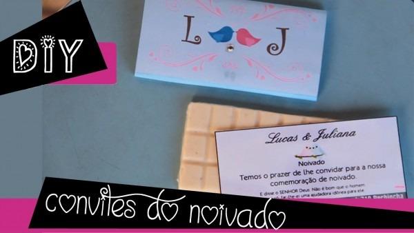 Convite comestível (nosso convite de noivado