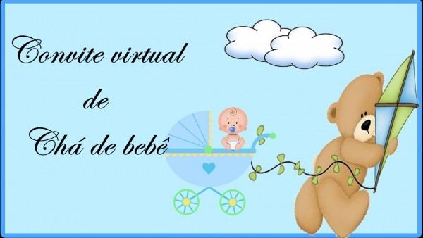 Convite Virtual Chá De Bebê Menino