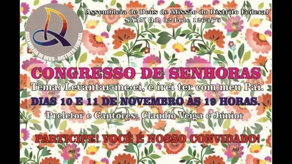 Convite congresso irmãs