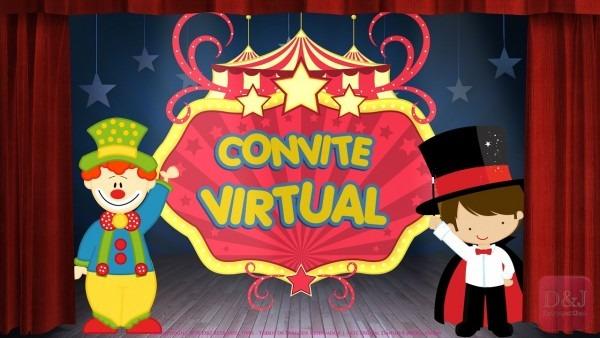 Convite virtual circo