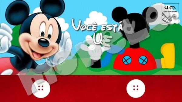 Modelo convite mickey mouse