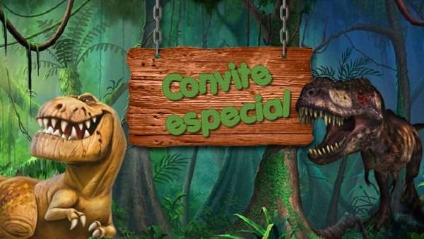 Convite virtual dinossauro