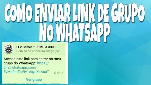 Como enviar link de grupo no whatsapp