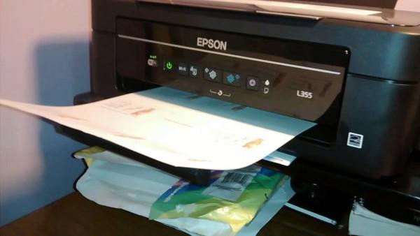 Epson l355 impressão frente e verso