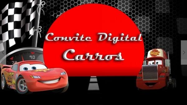 Modelo De Convite Digital Com O Tema Carros