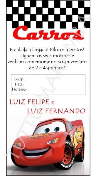Tuttu Marambá  Convite  Carros