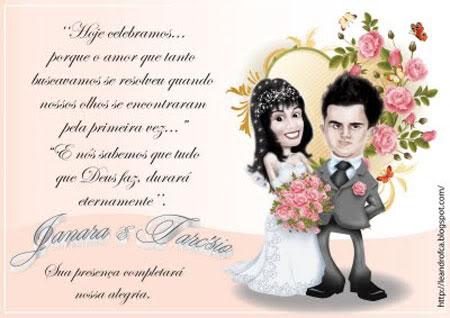 Tag; convite de casamento com frases evangelicas