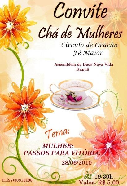 Cantora e escritora cris barcelos  convite chá de mulheres