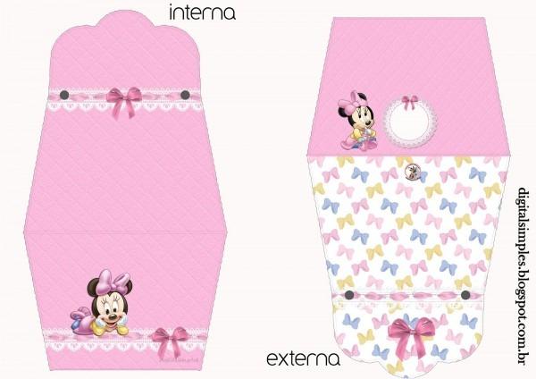 Kit de personalizados  minnie mouse baby  para imprimir