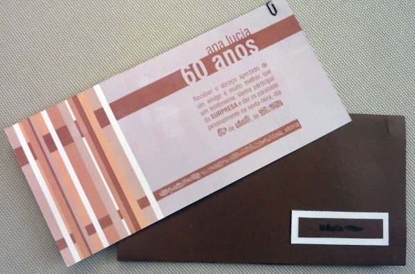 Mz convites e papelaria  convite 60 anos