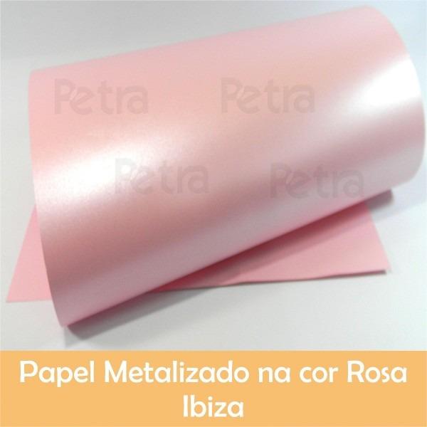 Papel colorido metalizado a3