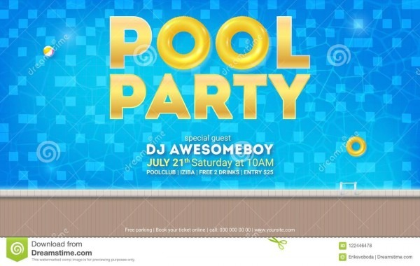 Partido do verão na associação convite para o evento com projeto