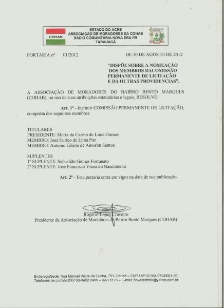Ponto de cultura de tarauacá  portaria nomeia comissão de