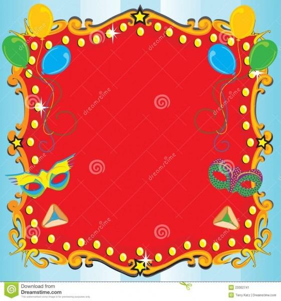 Poster do convite do partido do carnaval de purim ilustração do