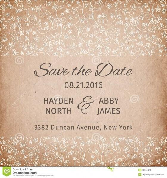 Salvar O Molde Do Convite Do Casamento Da Data Textura De Papel Do