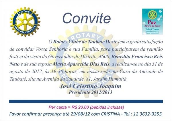 Distrito 4600 De Rotary International  Agosto 2012