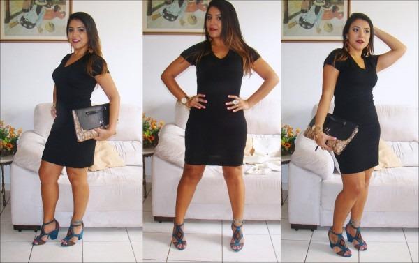 Moda e gestão  look do dia  vestido preto