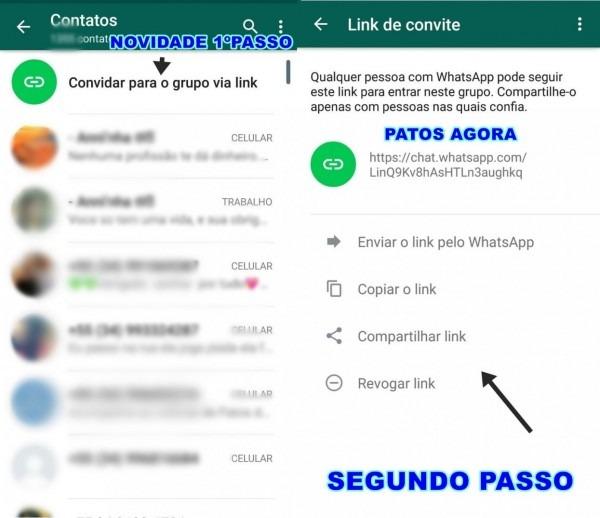 Novidade whatsapp agora tem link de grupos