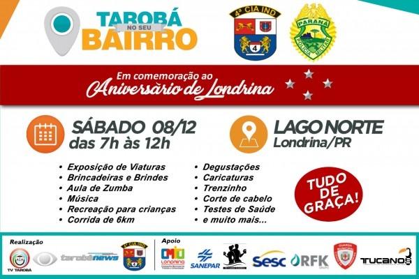 Convite  comemoração aniversário de londrina