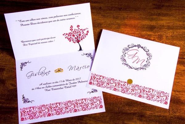 100 convite casamento, bodas de ouro + 160 individuais
