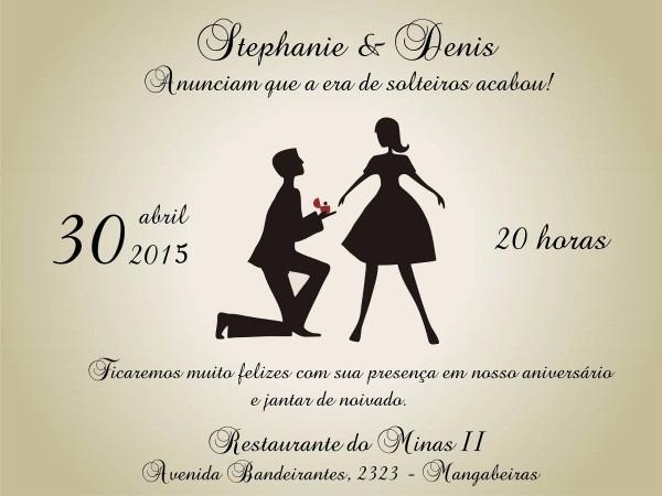 100 convite de noivado simples
