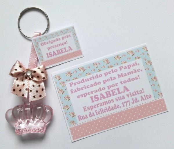 100 lembrancinhas coroa chá bebê fralda + convite imã!
