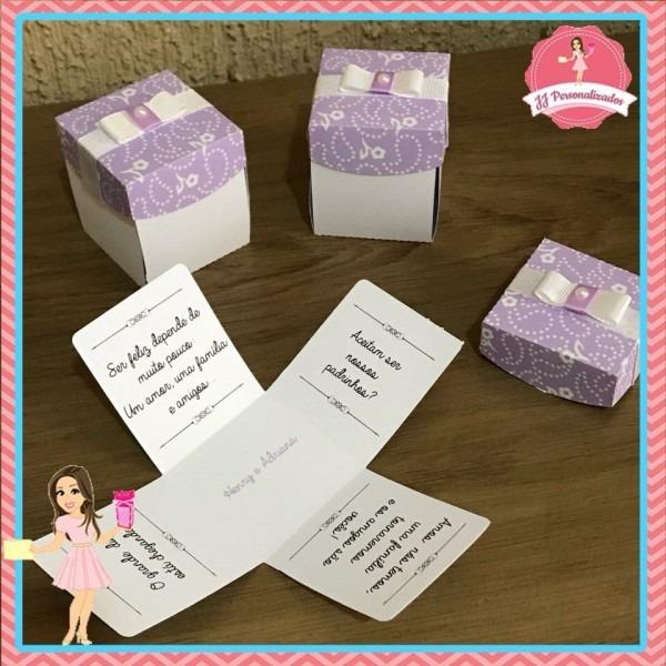 10 caixas convite padrinhos casamento