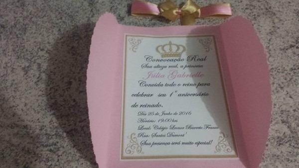 FaÇa voce mesmo  convite de aniversario  tema  princesa