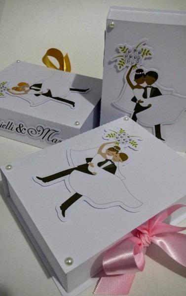 14 caixas convite lembrancinha casamento padrinhos noivos