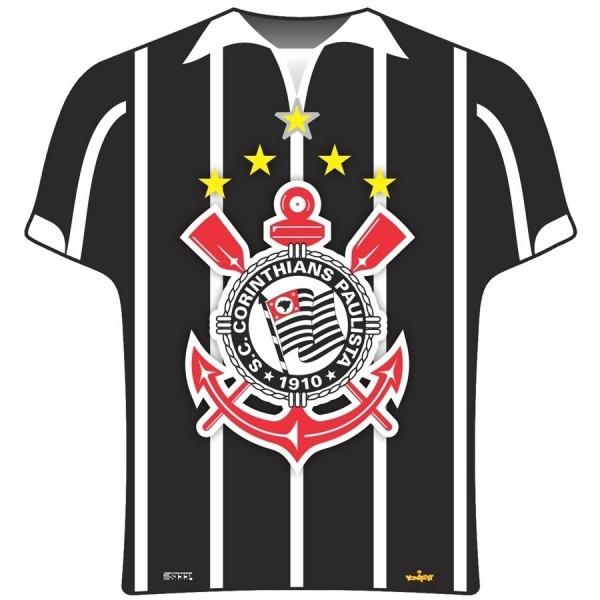 Prato descartável camisa corinthians 08 unidades