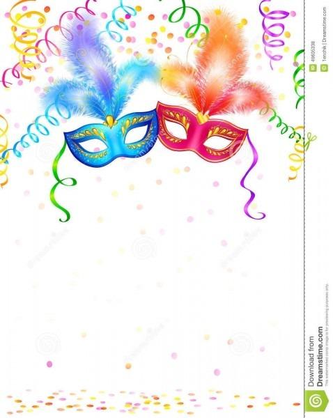 Foto sobre máscaras brilhantes do carnaval com confetes e