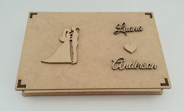 21 caixas convite de casamento padrinhos c  data ou nome