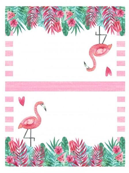 Free printable flamingo party pack