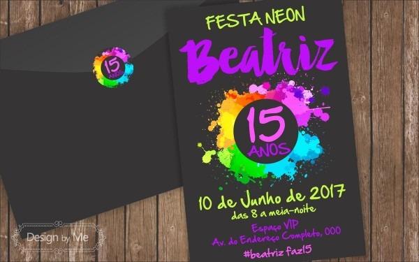 Convite impresso 10x15
