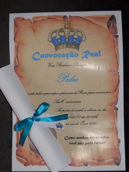 40 convites pergaminho aniversário infantil pequeno príncipe