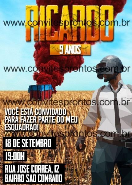 Pubg mobile convite de aniversÁrio battlegrounds free fire gamer