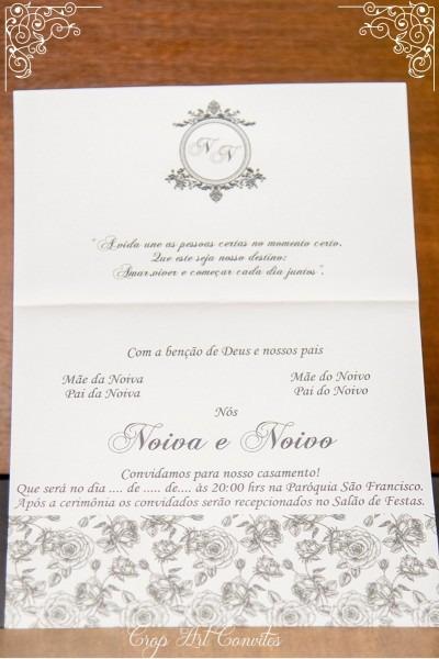 5 convites de casamento muito barato (valor r$ 1,25 unidade)