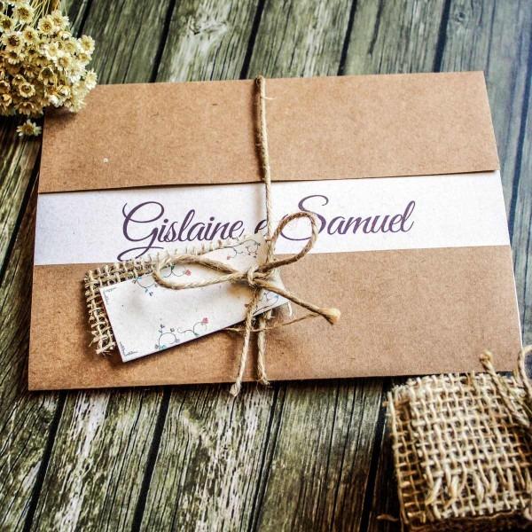 60 convites de casamento rústico fazenda campo personalizado