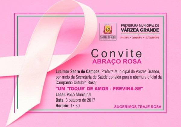 Abre oficialmente campanha  outubro rosa