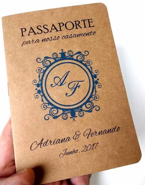 Convites casamento criativos passaporte
