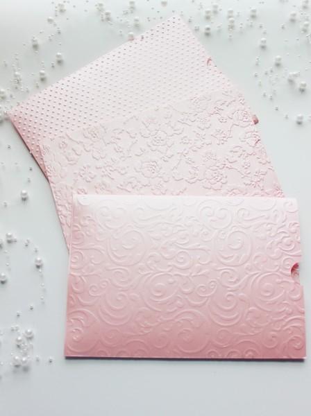 80 envelope rosa perolado convite de casamento 15x21,5 cm