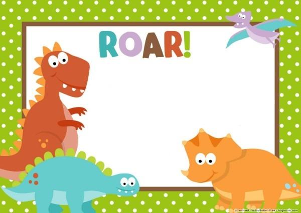 Free dinosaur birthday invitations – bagvania free printable