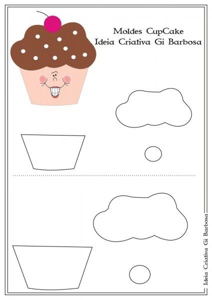 Molde cupcake cartão convite dia das mães ou lembrancinha dia da