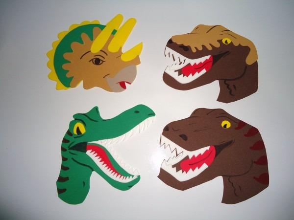 Apliques eva dinossauro no elo7