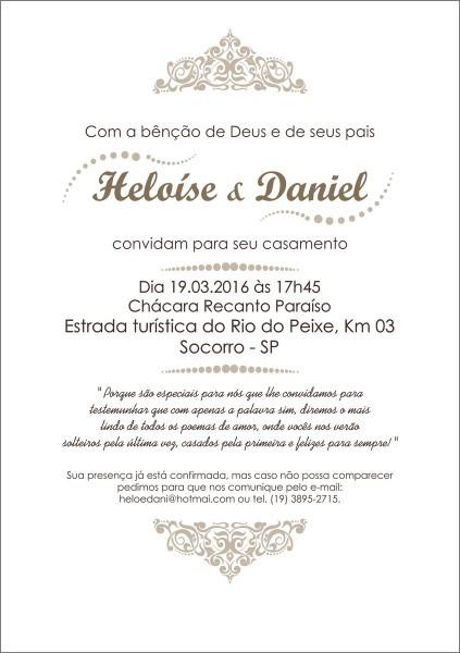 Arte digital convite casamento (dig 03) no elo7