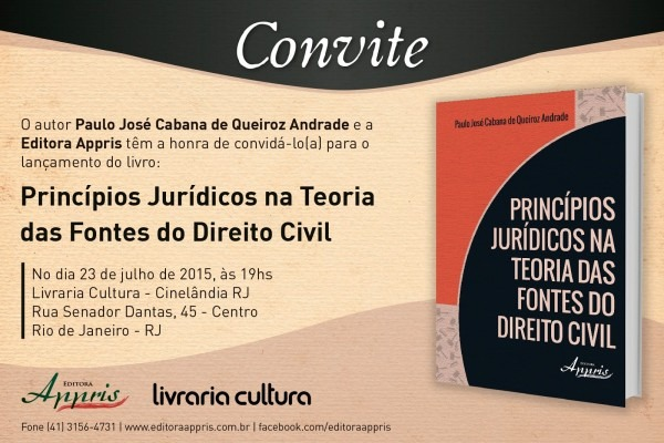Focus portal cultural  convite para lanÇamento do livro princÍpios